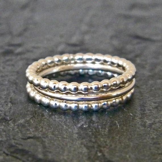 silver thumb ring silver ring dot ring thumb