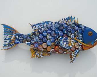 University of Florida (Colors) Bottlecap Art Grouper Fish