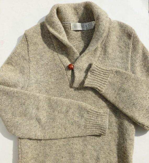Shawl Collar Sweater Men