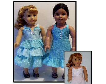 PDF Ruffled sundresses and slip pattern  for American Girl and similar 18 inch dolls