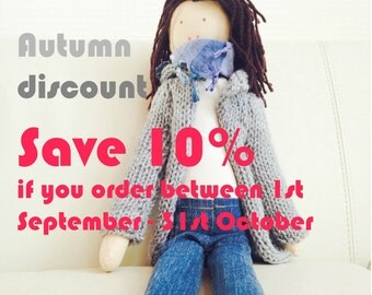 Handmade custom  doll, Women doll, Personalized fabric dolls, Birhtday gift, Christmas gift, Present for any occasion, Doll made by photo