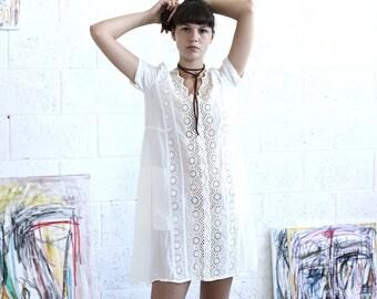 white dress-white silk dress-white-short sleeve midi dress