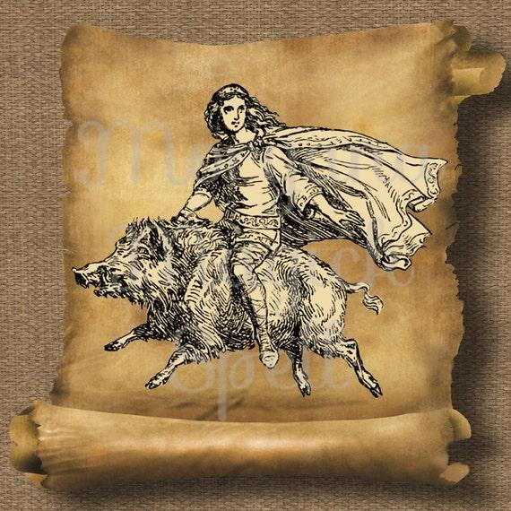 Goddess Freya Royalty Free Clipart