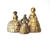 Collection of Vintage Brass Lady Bells