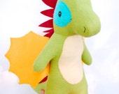 Demetrius the Dragon, dragon plush, dragon stuffed animal, dragon, dragon toy, mythical toy, magical toy, plush toy, stuffed animal, organic