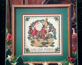 Debbie Mumm SANTA'S WELCOME By Dimensions - Counted Cross Stitch Pattern