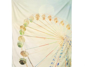 Wall Tapestry. Dreamy Ferris Wheel. Wall Hanging Fabric. Dorm Décor. Decorative Wall Décor. Wall Hanging. Circus Carnival Wall Tapestry