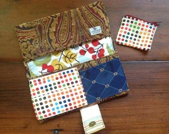 Handmade Women's Wallet- Boho/Textured
