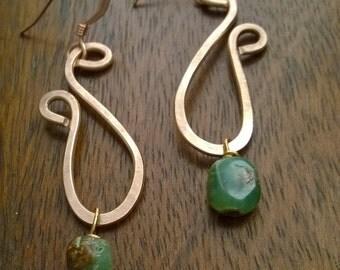 Warm Brass Curve Earrings