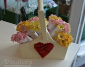 Pretty  Flower Posy - Say it with Buttons! Mothers Day, Easter, Birthday Gifts