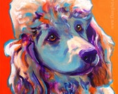 Poodle, Pet Portrait, DawgArt, Dog Art, Dog Painting, Pet Portrait Artist, Pet Portrait Painting, Colorful Pet Portrait, Puppy Art,