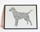 """The Labrador Retriever - Story of the dog inside the silouhette - dog breed  - Hand signed - 8"""" 12"""" 16"""" 24 inches - A4 - A3 - A2 - A1"""