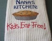 Nana's Embroidered Kitchen Towel