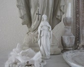 MADONNA STATUE Sacred Heart Of Mary Jeanne D Arc Living French Nordic Shabby Chic Quiet Living