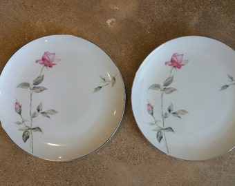 Vintage China Dinner Plate, Style House Dawn Rose Dinner Plate