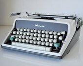 Vintage 1963 Olympia SM7 Typewriter West Germany New Ribbon