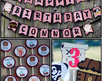 Pirate Birthday Party Package, Pirate Party Theme, Pirate Banner