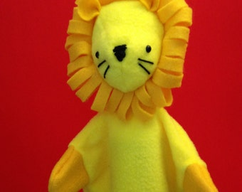 Hand Puppet for Children -- Lion Puppet -- Cute Puppet -- Animal Puppet