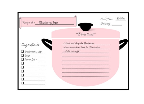 Recipe Cards Recipe Card Template Recipe Cards Printable Recipe Cards 4x6 Recipe Card Dividers Recipe Card Download