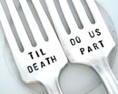 Til Death Do Us Part Forks  - Wedding Forks - Majestic 1928