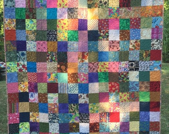 Twin Patchwork Quilt, Twin Quilt, Twin Bedding, Traditional Quilt ,Bed Quilt, Quilt, Quilts, 10