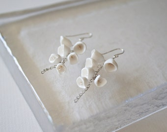 Dangle Pod Earrings - Feminine Bridal Special Occasion Earrings