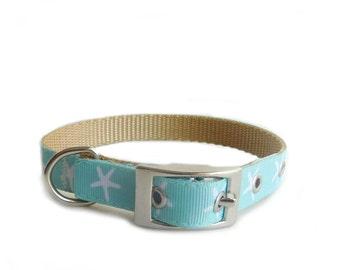 Metal Buckle Dog Collar, Starfish Collar