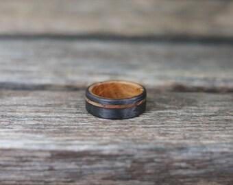 Whiskey Barrel Ring - Oak and Carbon Fiber Ring
