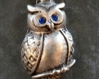 Rhinestone Owl Pendant