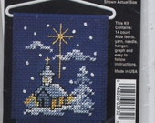 Winter Church Mini Counted Cross-Stitch Kit With Hanger