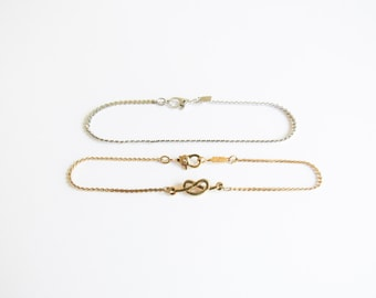 Love Knot Vintage Monet Bracelet Set With Silver and Gold Infinity Knots