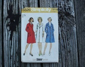Simplicity 5526 1970s 70s Midi Lined Coat Jacket Vintage Sewing Pattern Size 16 Bust 38