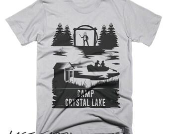 Camp Crystal Lake T Shirt Camping Shirt Friday The 13th TShirt Mens Womens Halloween Shirt Horror Movie Shirt Funny Camping Shirt