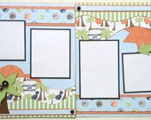 Dinosaurs Pre Made 2 Page 12x12 Scrapbook Layout
