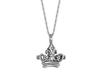 Crown Necklace in 14k White Yellow Rose Gold | made to order for you within 5-7 business days