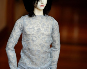 SD Boy Grey Lace Top For BJD