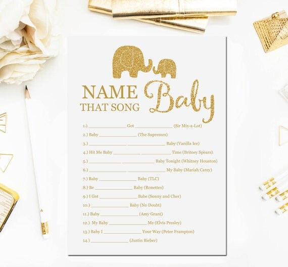 elephant baby shower games name that song game baby songs game