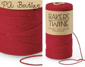 Cherry Red 4-ply 100% Cotton Baker's Twine (Free Shipping!)