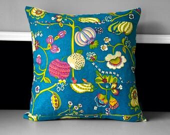 """Pillow Cover - Delphine Bouquet Blue, 20"""" x 20"""""""