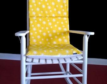 Rocking Chair Cushion Cover - Dandelion Yellow