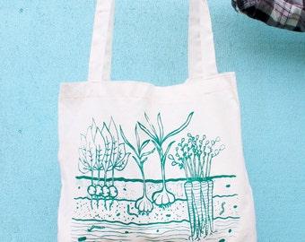 Veggie Garden - Tote Bag - Hand Screen Printed