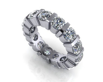 Forever One Colorless Moissanite Eternity Band 7 CTW
