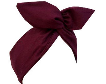Burgundy wine red wire headband
