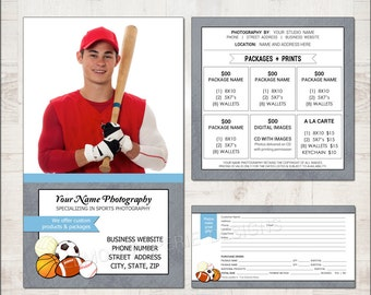 Pre-Pay Envelope and Mini-Session Template for Millers - Sports Mate - PPE207 - INSTANT DOWNLOAD