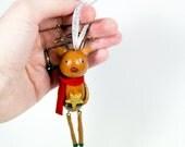 Joyful Reindeer Ornament - Dangling Legs