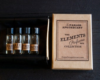 Elements Perfume Oil Set- The Parlor Apothecary - Zodiac Signs - 2 mL each