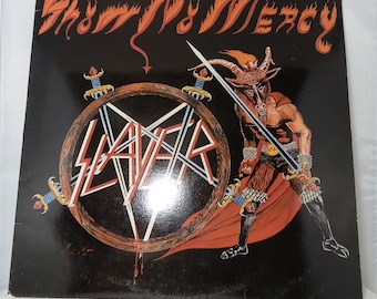 Vintage Vinyl LP Record Slayer Show No Mercy 1983 Silver Label MBR 1013 Collectible Original Issue Nice Copy First Album DanPickedMinerals
