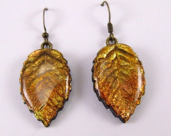 fall leaf earrings polymer clay