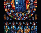 Full Sized - Dr. Who Stained Glass Illustration