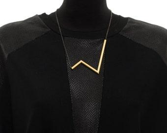 Bib Necklace, Short Necklace, Gold Necklace, Lifeline Necklace, Necklaces For Women, NB023